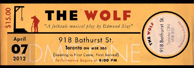The Wolf Folktale Musical Mike Ellis Illustrator – Sample Ticket Design